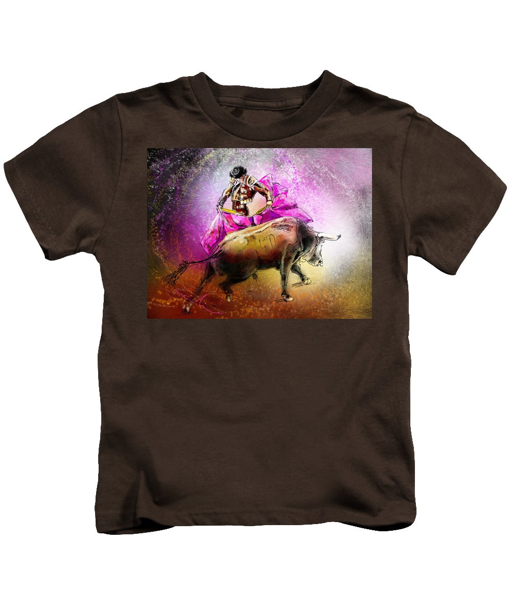 Animals Kids T-Shirt featuring the painting Toroscape 38 by Miki De Goodaboom