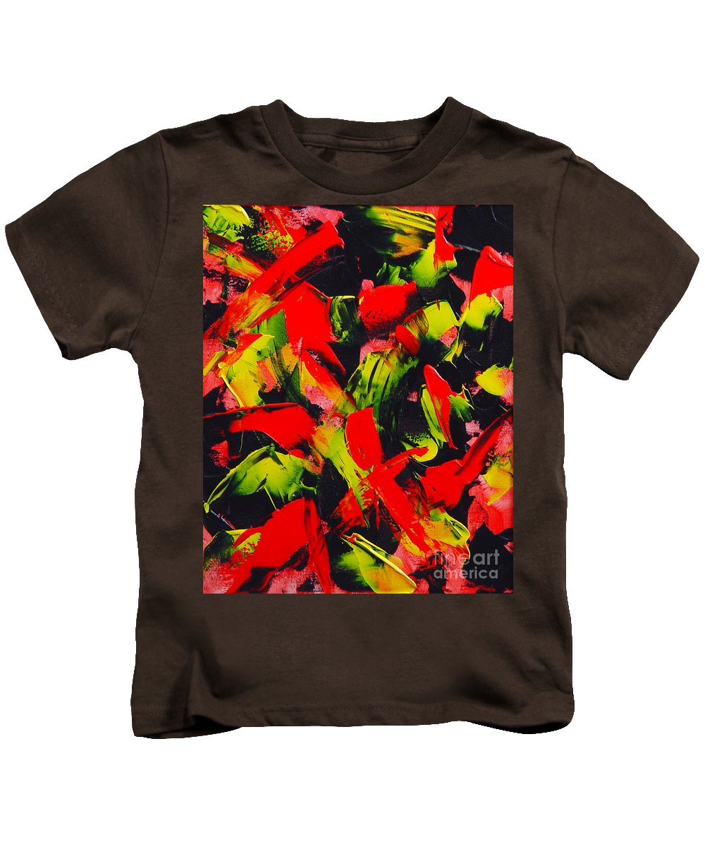 Abstract Kids T-Shirt featuring the painting Transitions IIi by Dean Triolo