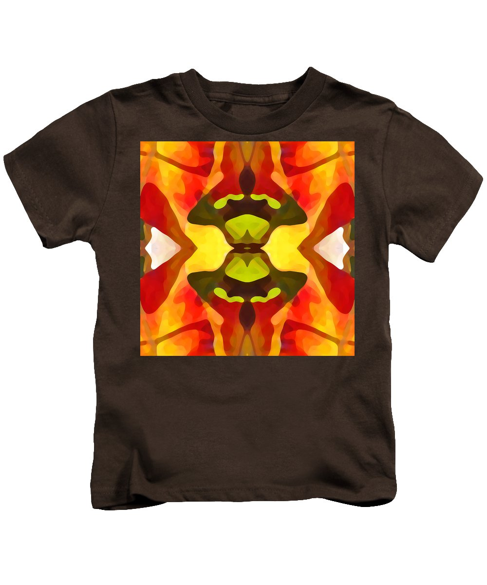 Abstract Kids T-Shirt featuring the painting Tropical Leaf Pattern 1 by Amy Vangsgard