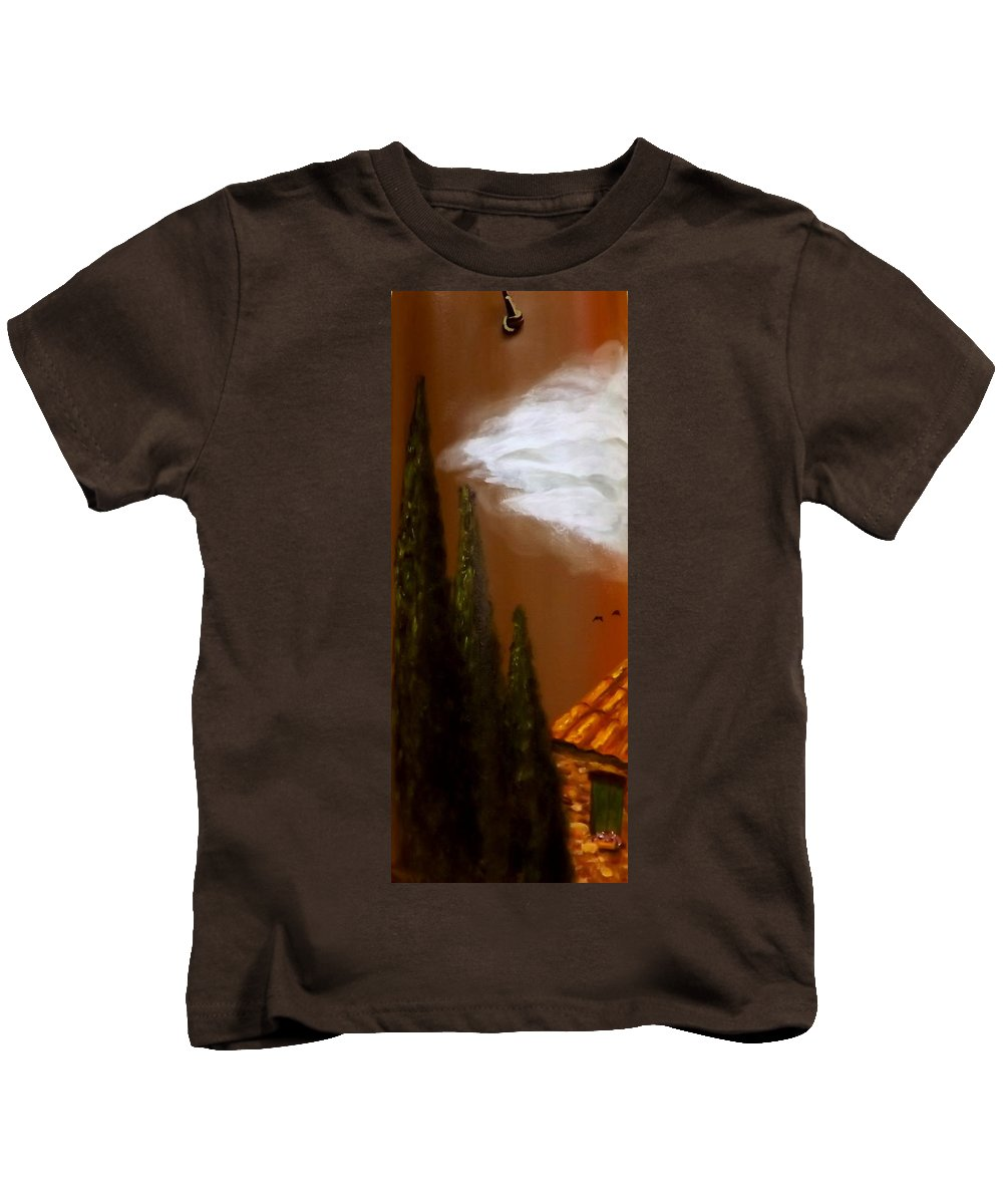 Tuscany Kids T-Shirt featuring the painting Tuscan Terra Cotta by Gino Didio
