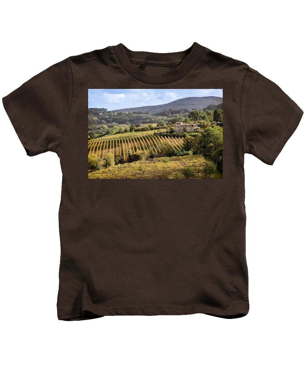 Tuscany Kids T-Shirt featuring the photograph Tuscan Valley by Dave Bowman
