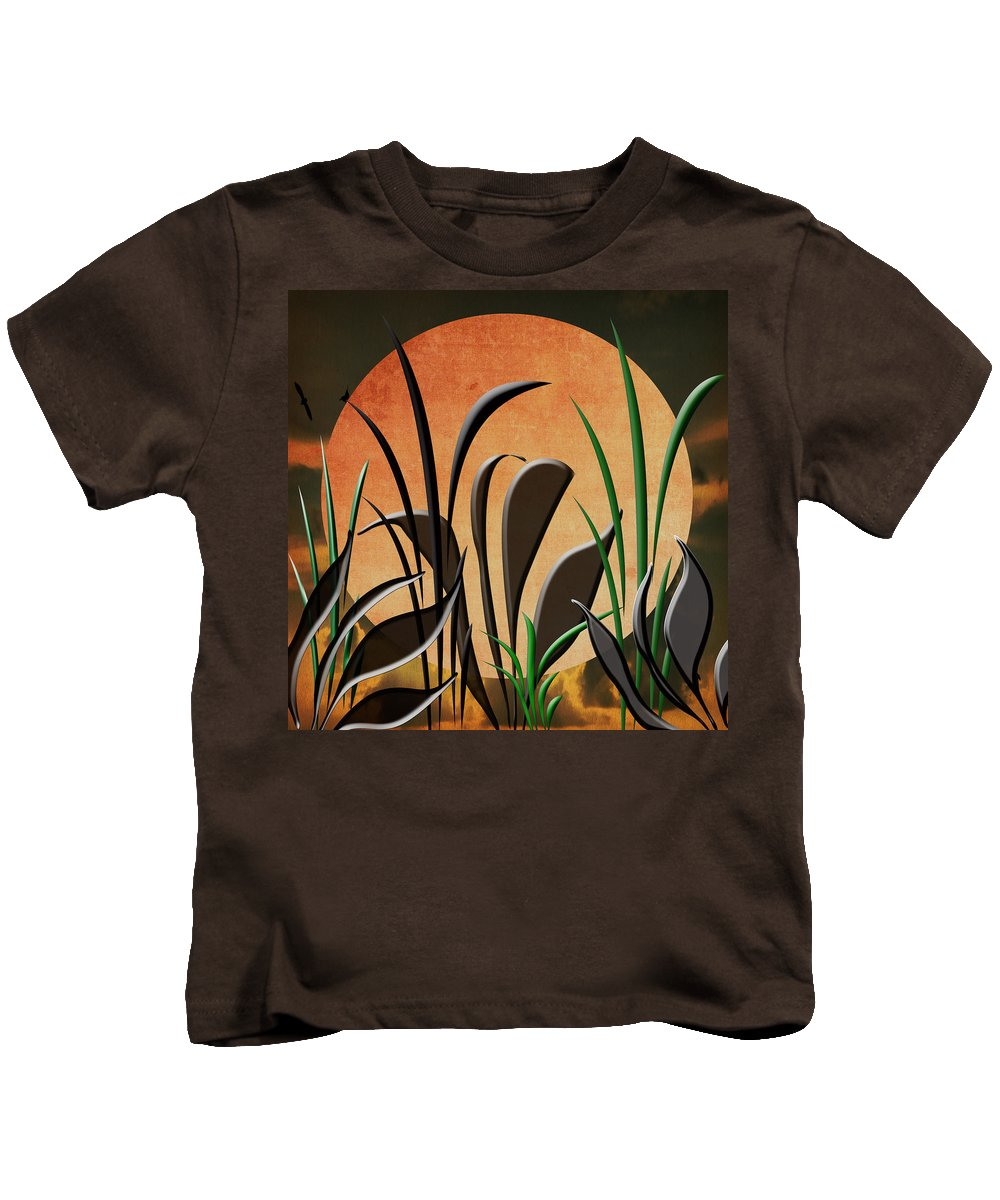 Serenity Kids T-Shirt featuring the digital art Twilight by Judy Hall-Folde