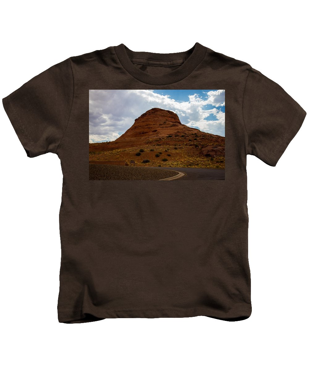 Grand Canyon Kids T-Shirt featuring the photograph Up Around The Bend by Kathleen Odenthal
