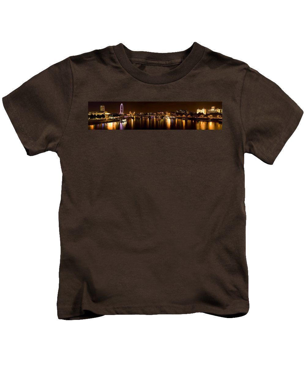 Photography Kids T-Shirt featuring the photograph View Of Thames River From Waterloo by Panoramic Images