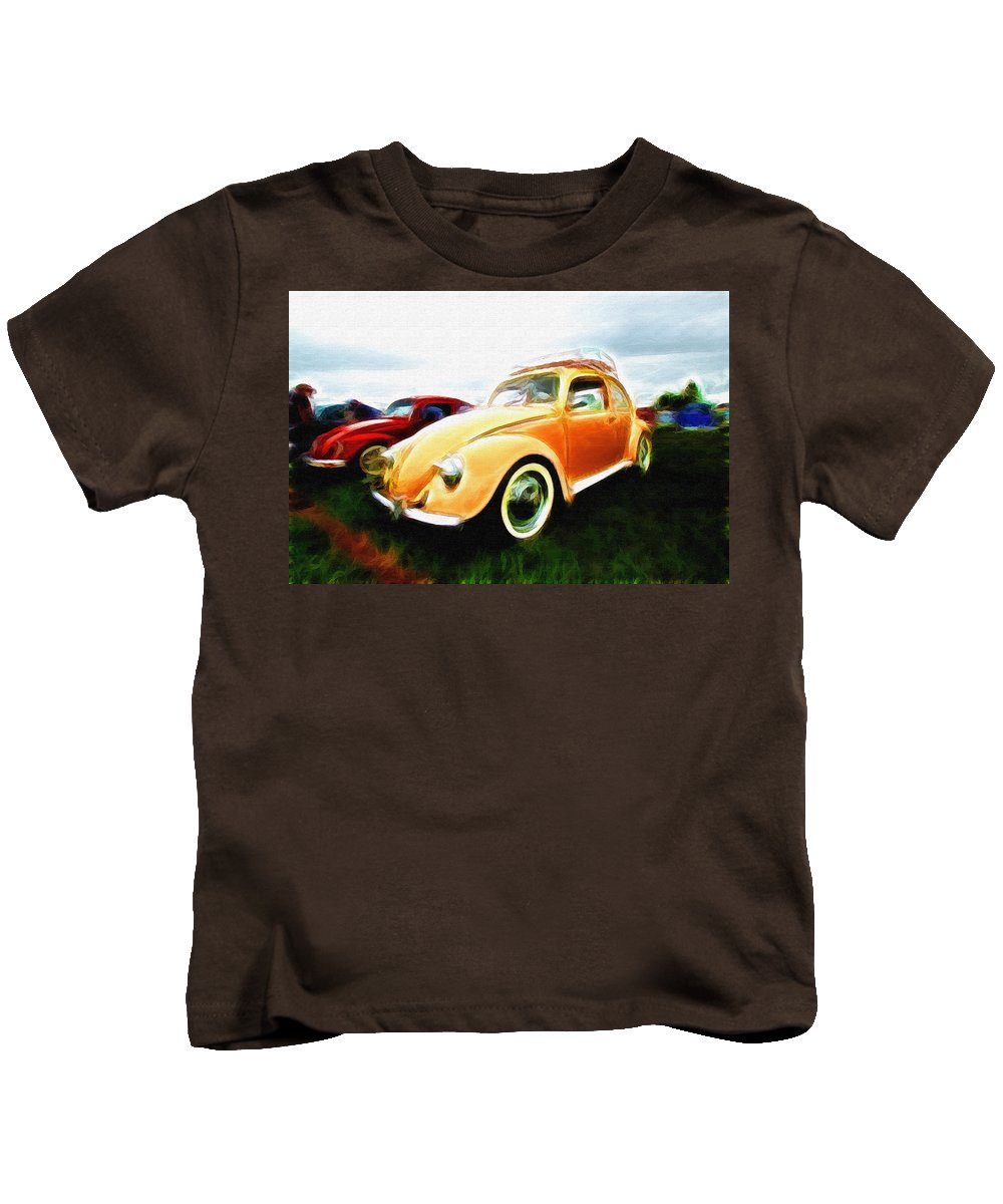 Vw Kids T-Shirt featuring the photograph Vw Type 1 by Steve McKinzie