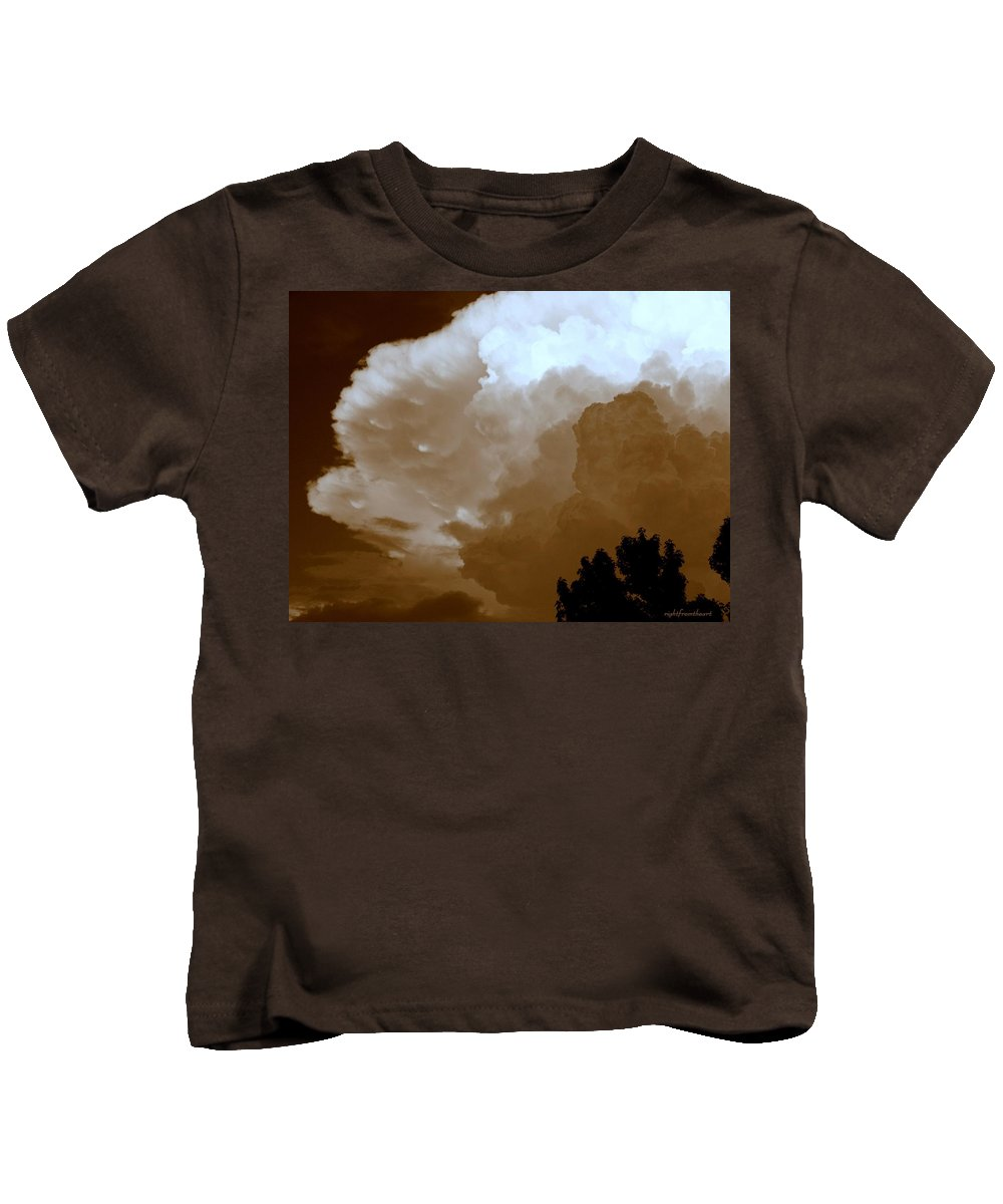 Wall Cloud Kids T-Shirt featuring the photograph Wall Cloud by Bob and Kathy Frank