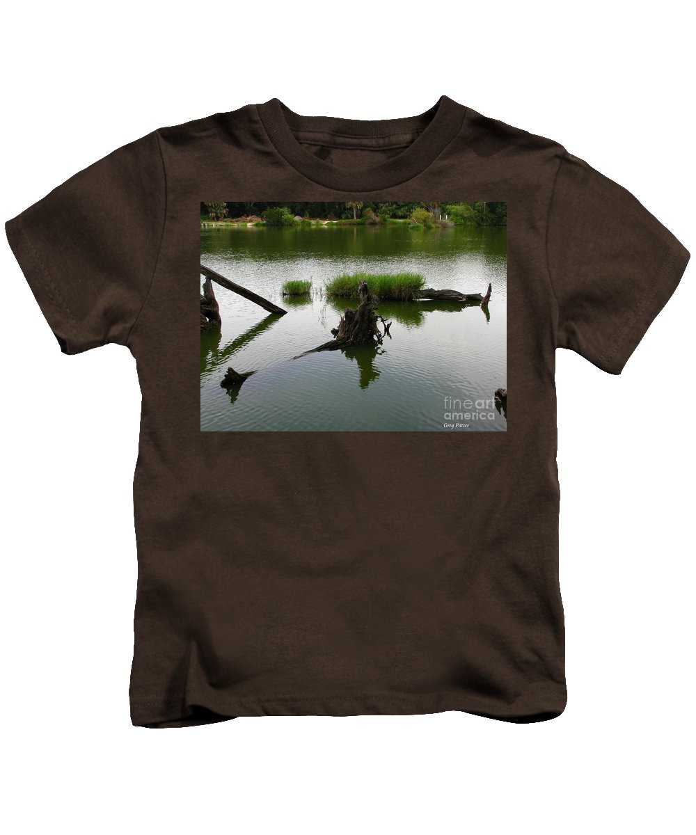 Art For The Wall...patzer Photography Kids T-Shirt featuring the photograph Water Art by Greg Patzer