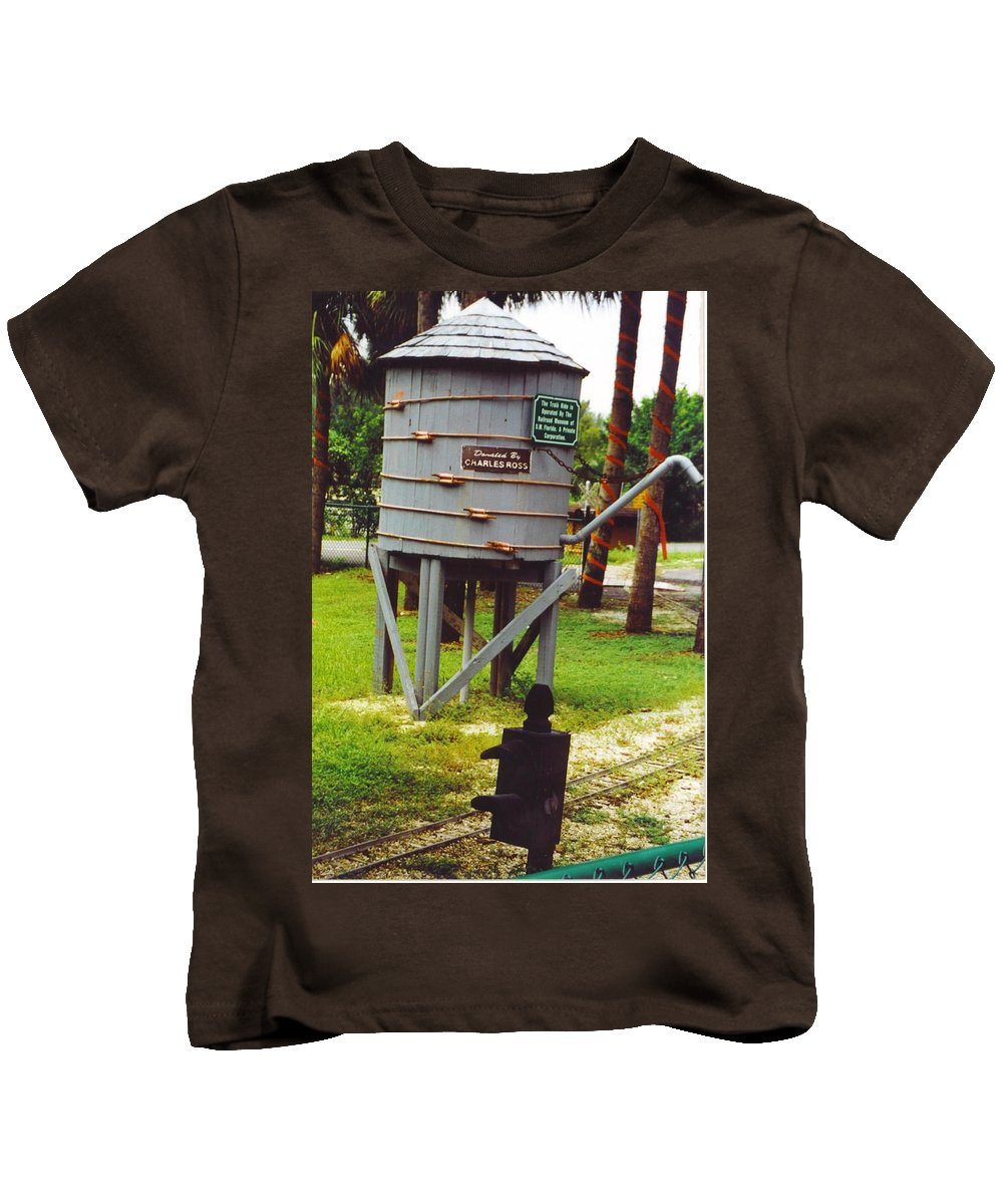 Lakes Park Kids T-Shirt featuring the photograph Water Tank Landscape by Robert Floyd