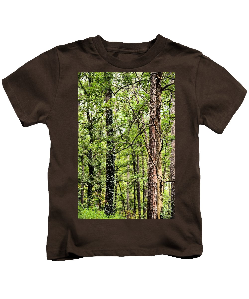 When The Forest Calls To Me Kids T-Shirt featuring the photograph When The Forest Calls To Me by Maria Urso