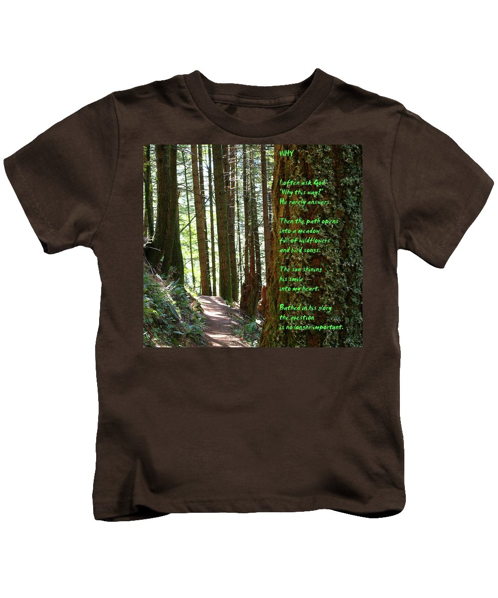 Trees Kids T-Shirt featuring the photograph Why by Jeff Swan