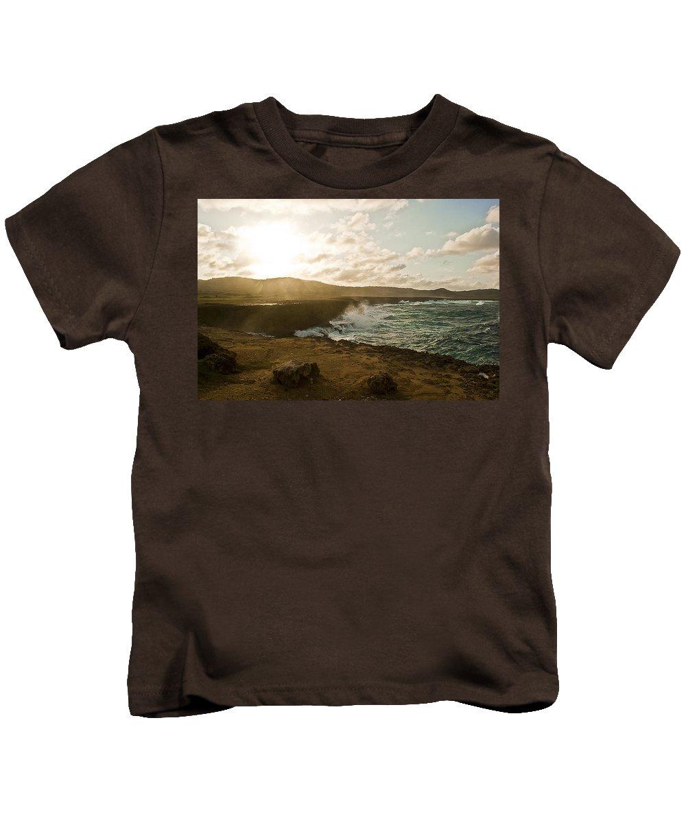 Aruba Kids T-Shirt featuring the photograph Wild Aruba by Ryan Burton