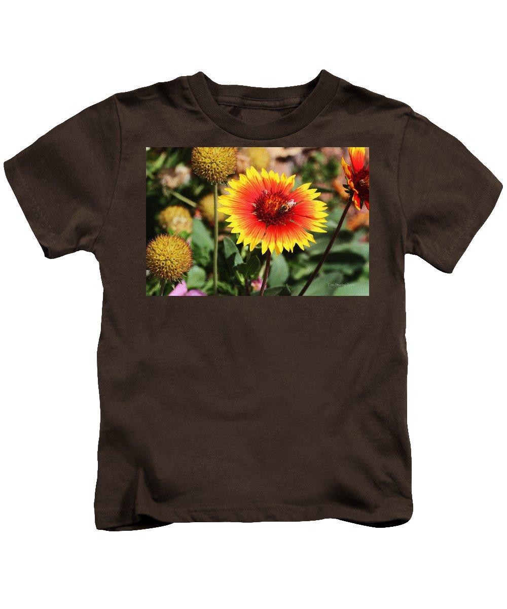 Wild Flowers Sierra Ancha Mountains. Arizona Kids T-Shirt featuring the photograph Wild Flowers Sierra Ancha Mountains by Tom Janca