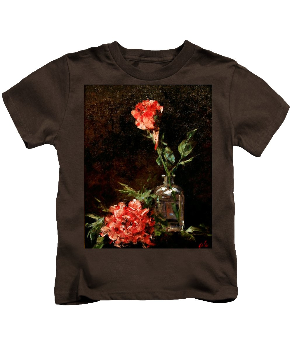 Floral Kids T-Shirt featuring the painting Wild Irish by Jim Gola