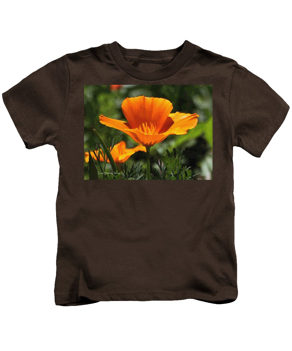 Wild Poppy On The Loose Kids T-Shirt featuring the photograph Wild Poppy On The Loose by Tom Janca