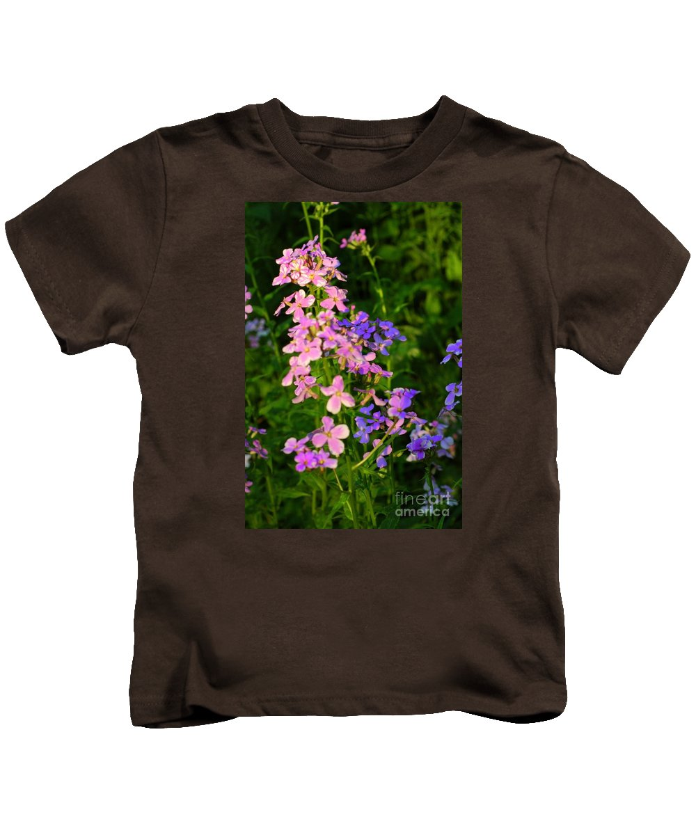 Wildflower Kids T-Shirt featuring the photograph Wildflower Woods by Kathleen Struckle