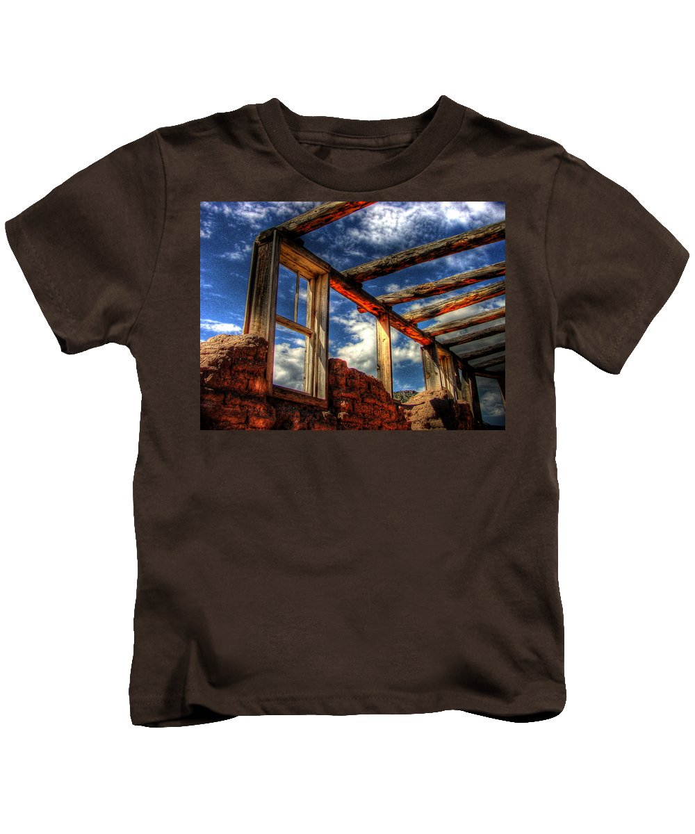 Hdr Kids T-Shirt featuring the photograph Windows To The Past by Timothy Bischoff