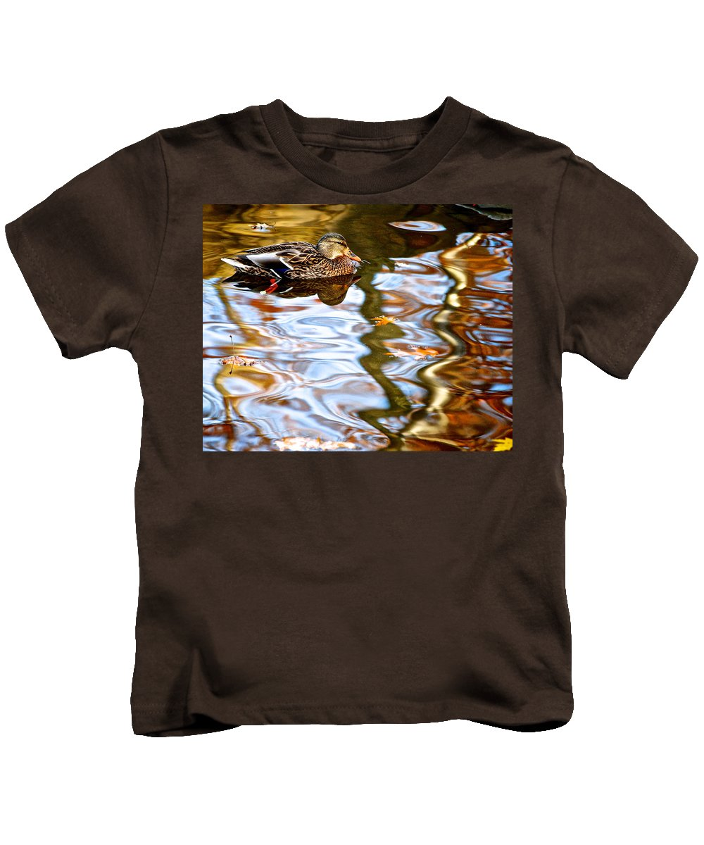 Colorful Kids T-Shirt featuring the photograph Withdrawn by Frozen in Time Fine Art Photography