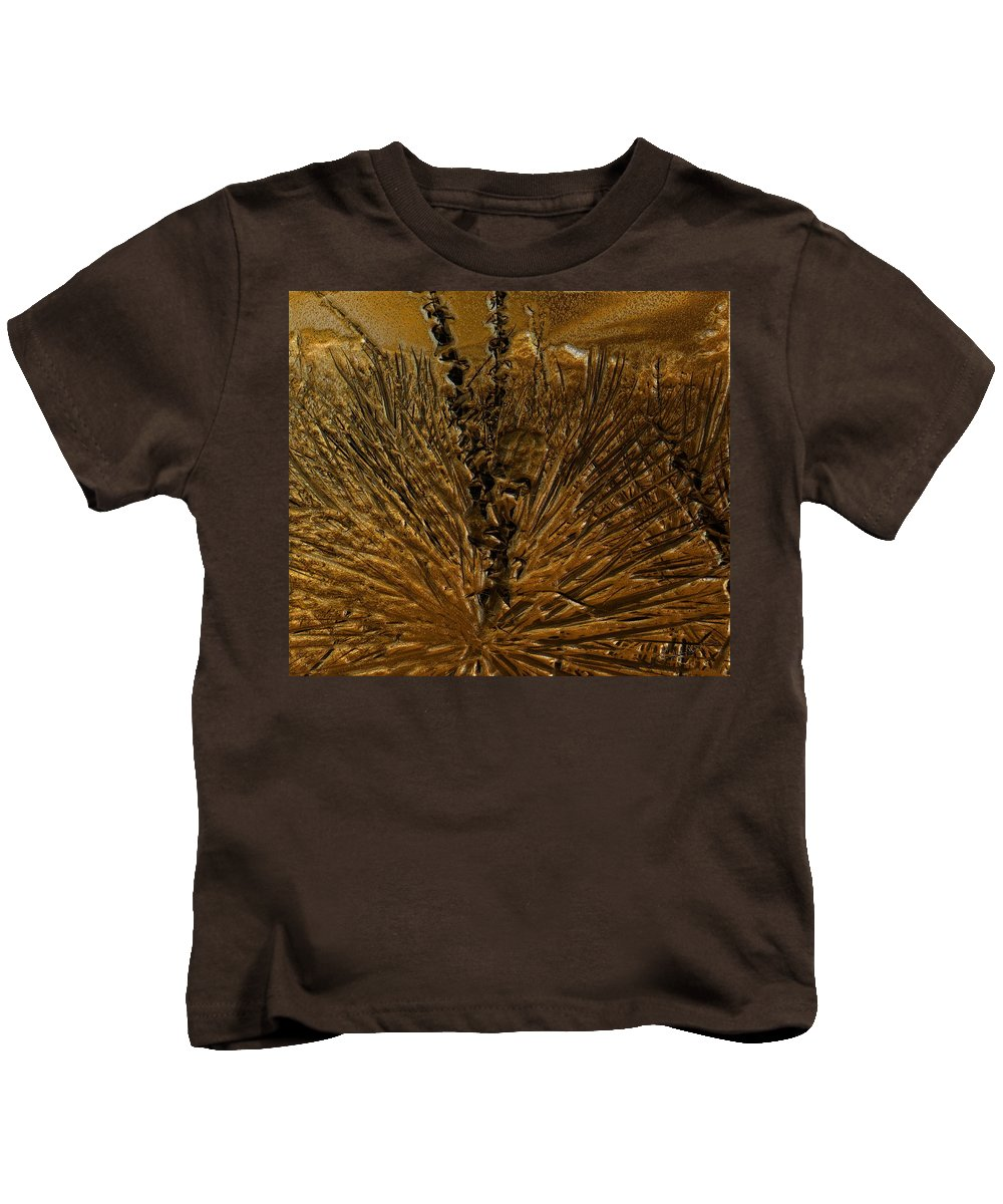 Yucca Kids T-Shirt featuring the digital art Yucca Gold by Michael Hurwitz