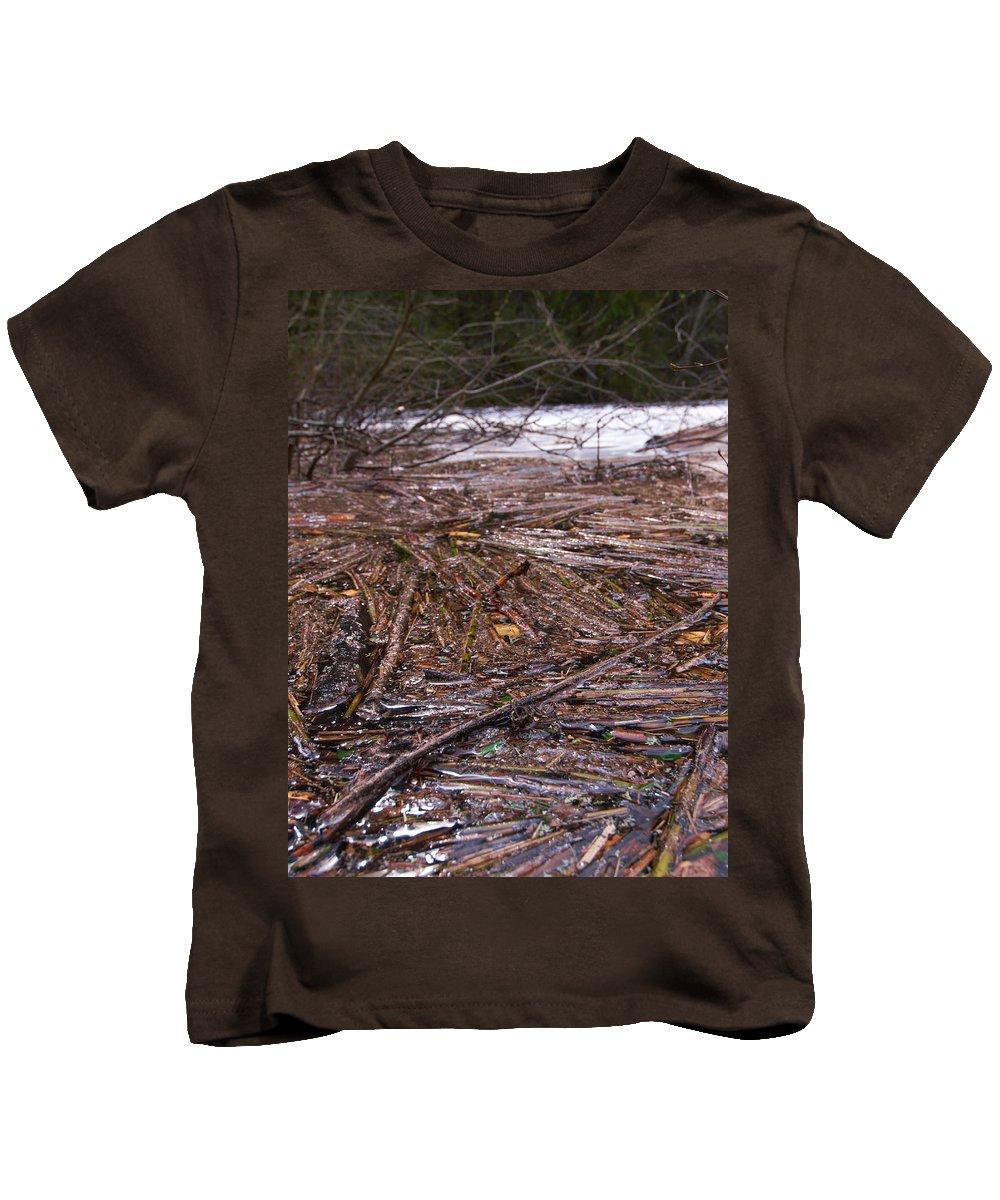 Lehtokukka Kids T-Shirt featuring the photograph Abstract Flood by Jouko Lehto