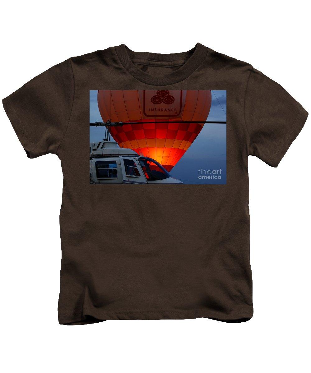 Hot Air Kids T-Shirt featuring the photograph Night Flight by Robert Frederick