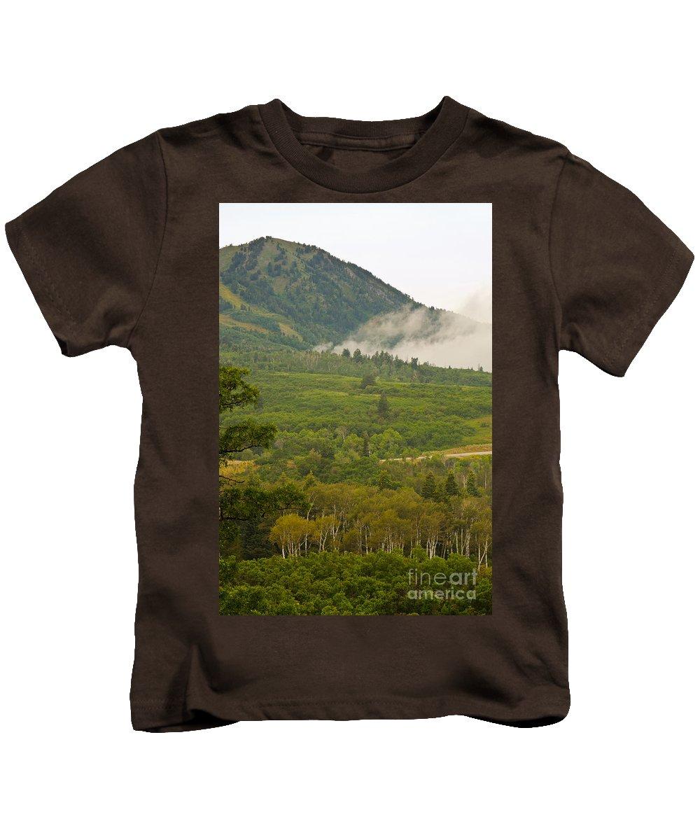 Fine Art Kids T-Shirt featuring the photograph Snowbasin Utah by Donna Greene