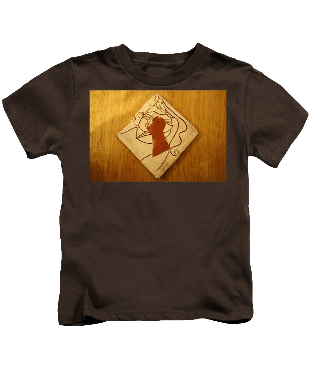 Jesus Kids T-Shirt featuring the ceramic art Centres - Tile by Gloria Ssali