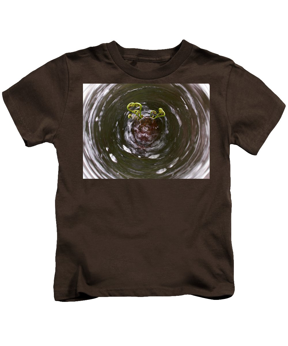 Liesijoki Kids T-Shirt featuring the photograph Ferns In A Stream by Jouko Lehto