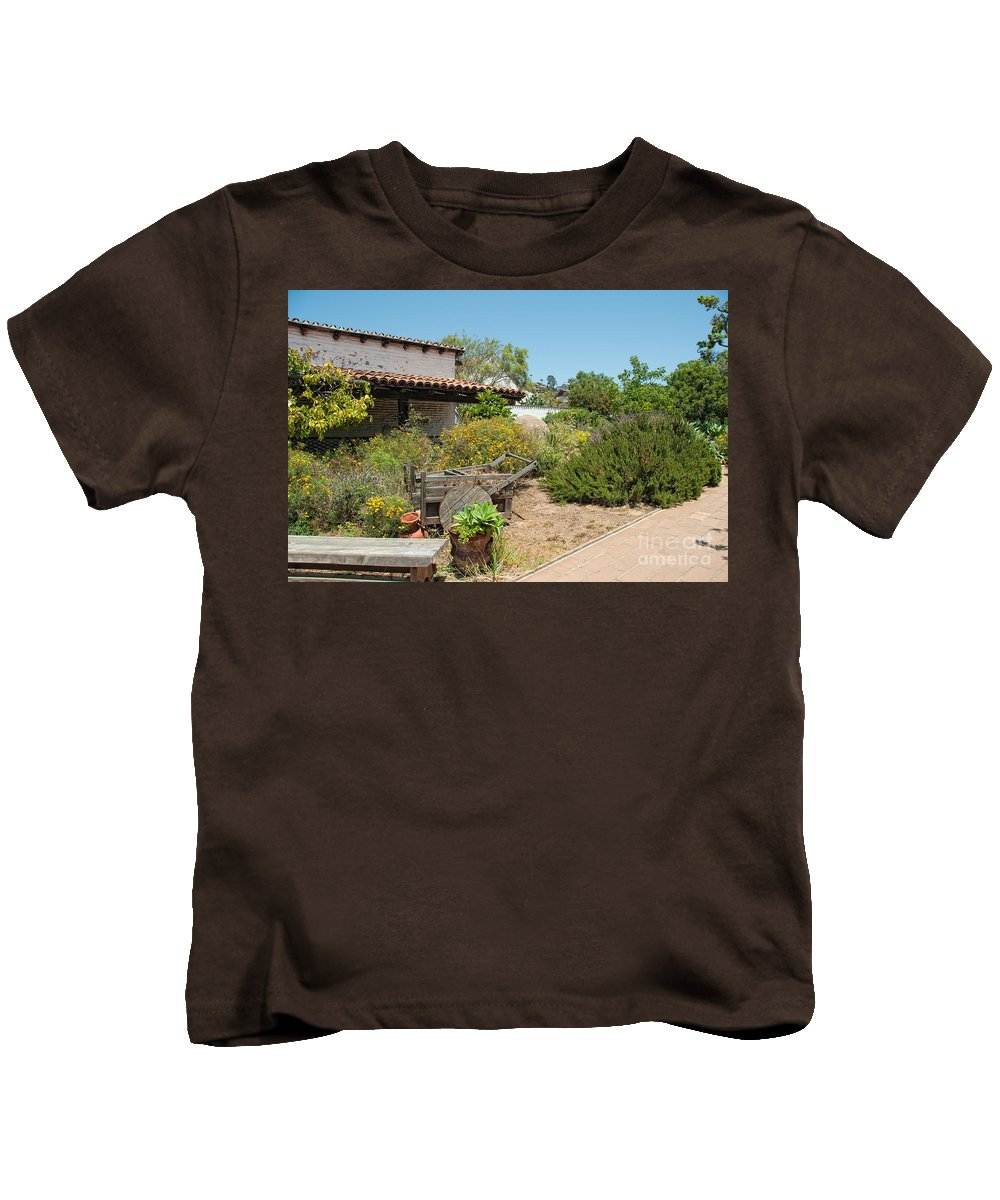 Architecture Kids T-Shirt featuring the digital art Old Town San Diego by Carol Ailles