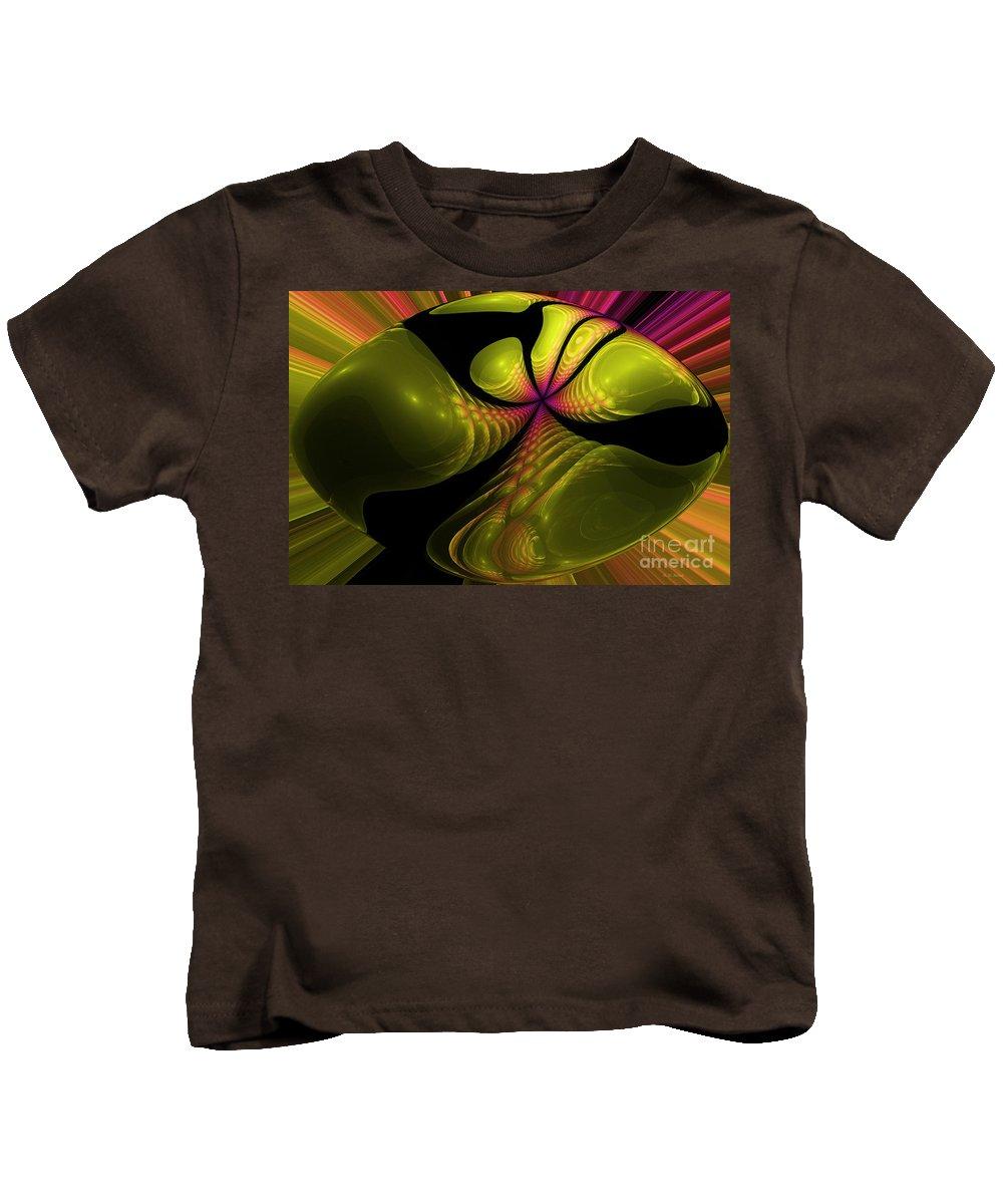 Abstract Kids T-Shirt featuring the digital art 3d Effect by Deborah Benoit