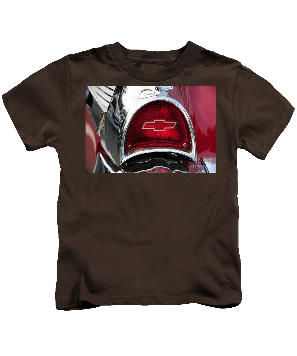57 Chevy Kids T-Shirt featuring the photograph 57 Chevy Tail Light by Paul Ward