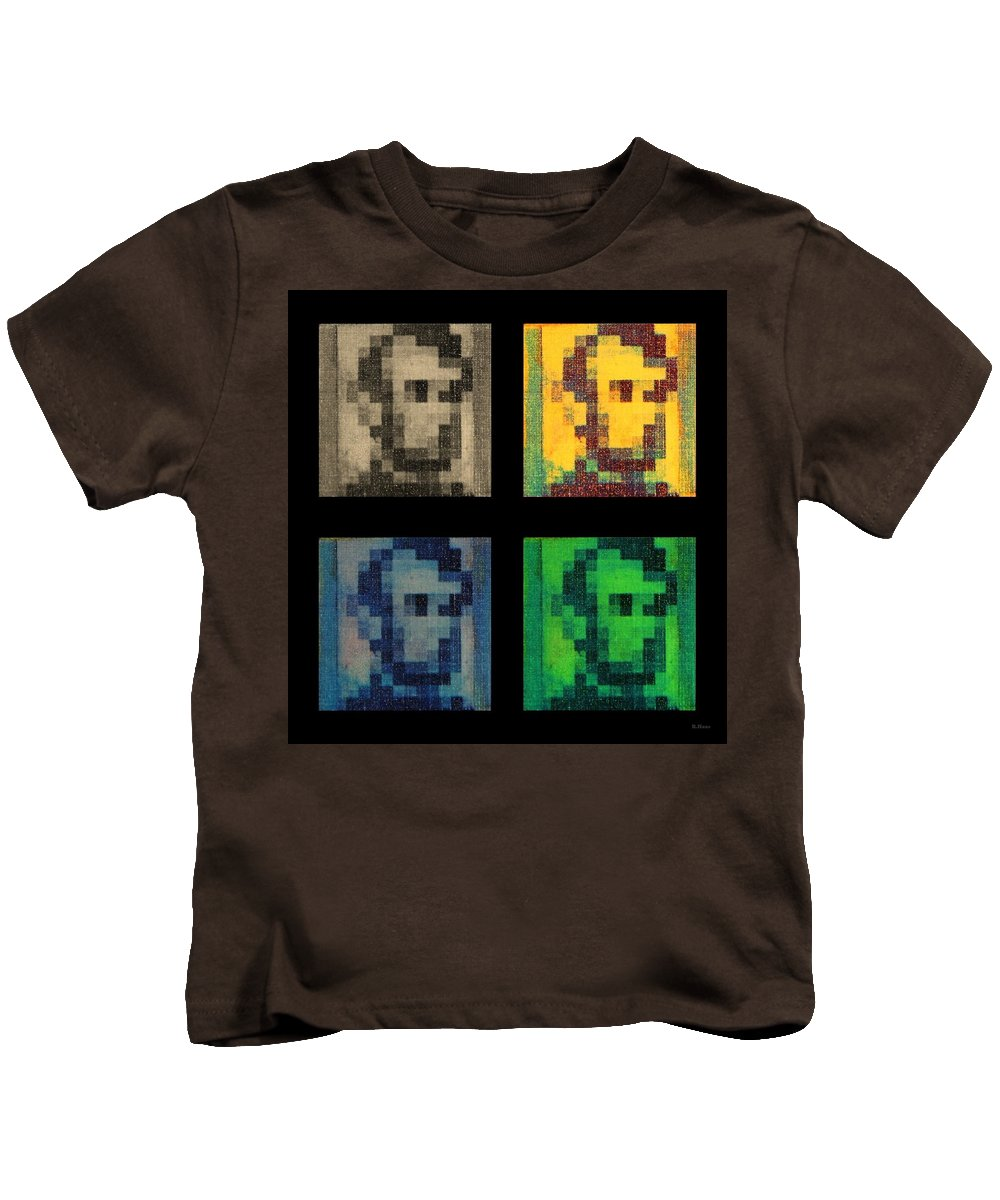 Green Kids T-Shirt featuring the photograph Abe In Quad Colors by Rob Hans