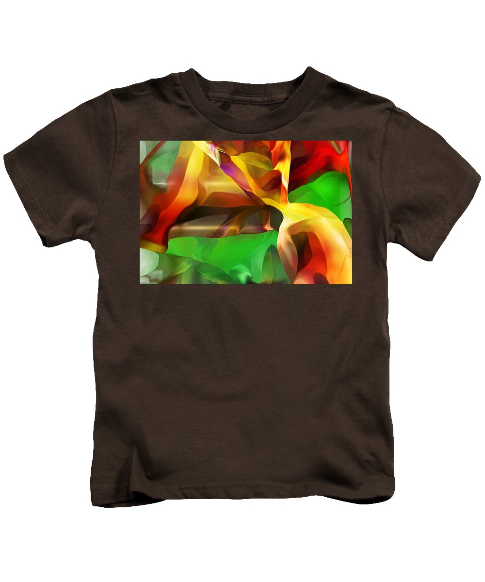 Fine Art Kids T-Shirt featuring the digital art Abstraction 091412 by David Lane