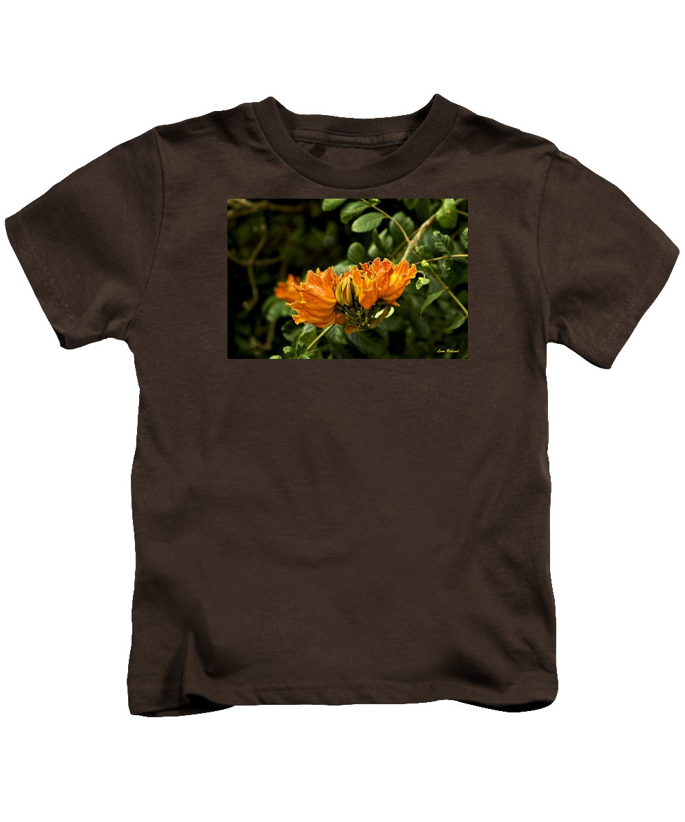 Flowers Kids T-Shirt featuring the photograph African Tulip Tree by Leon Roland