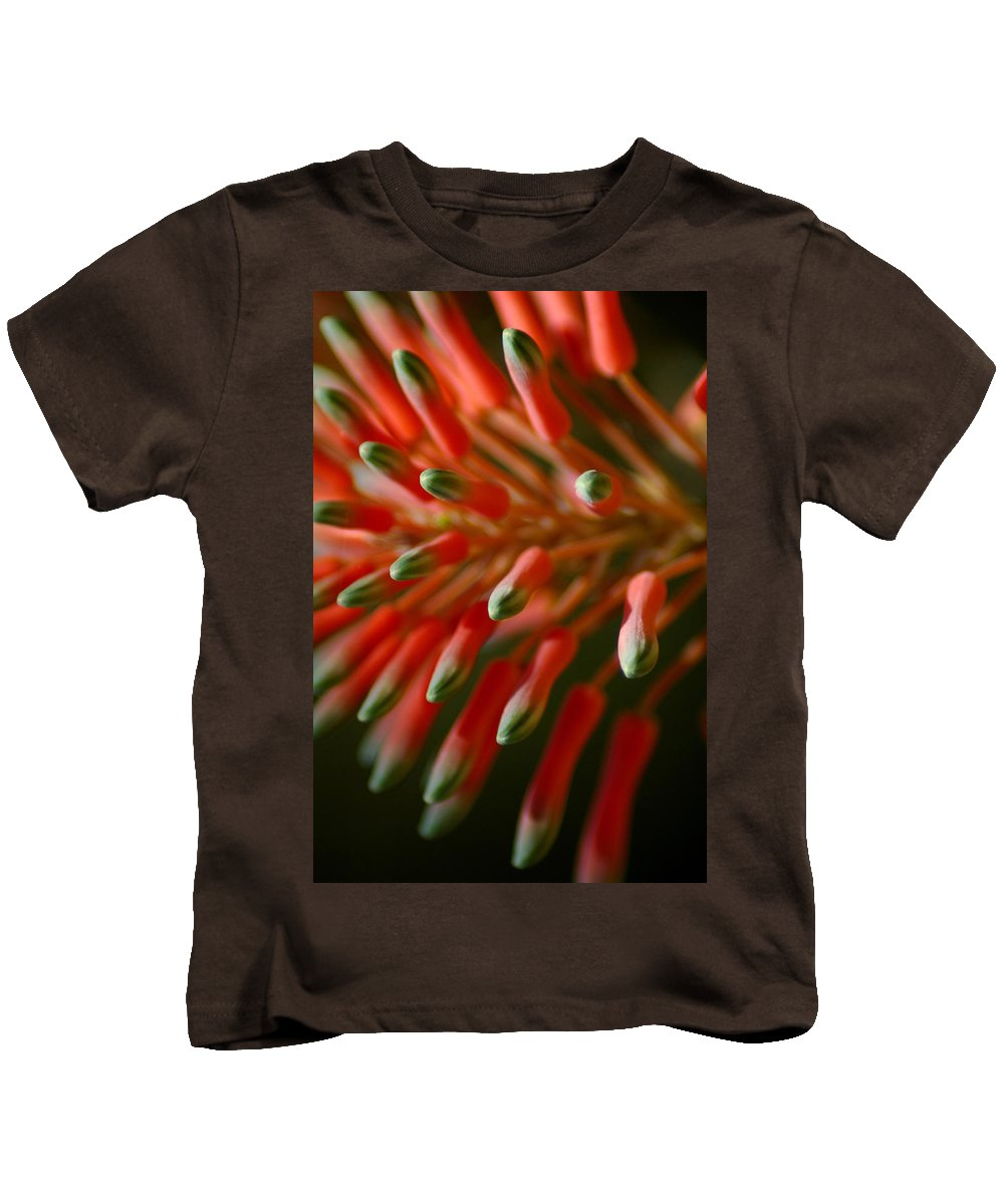 Aloe Kids T-Shirt featuring the photograph Aloe Bloom by David Weeks
