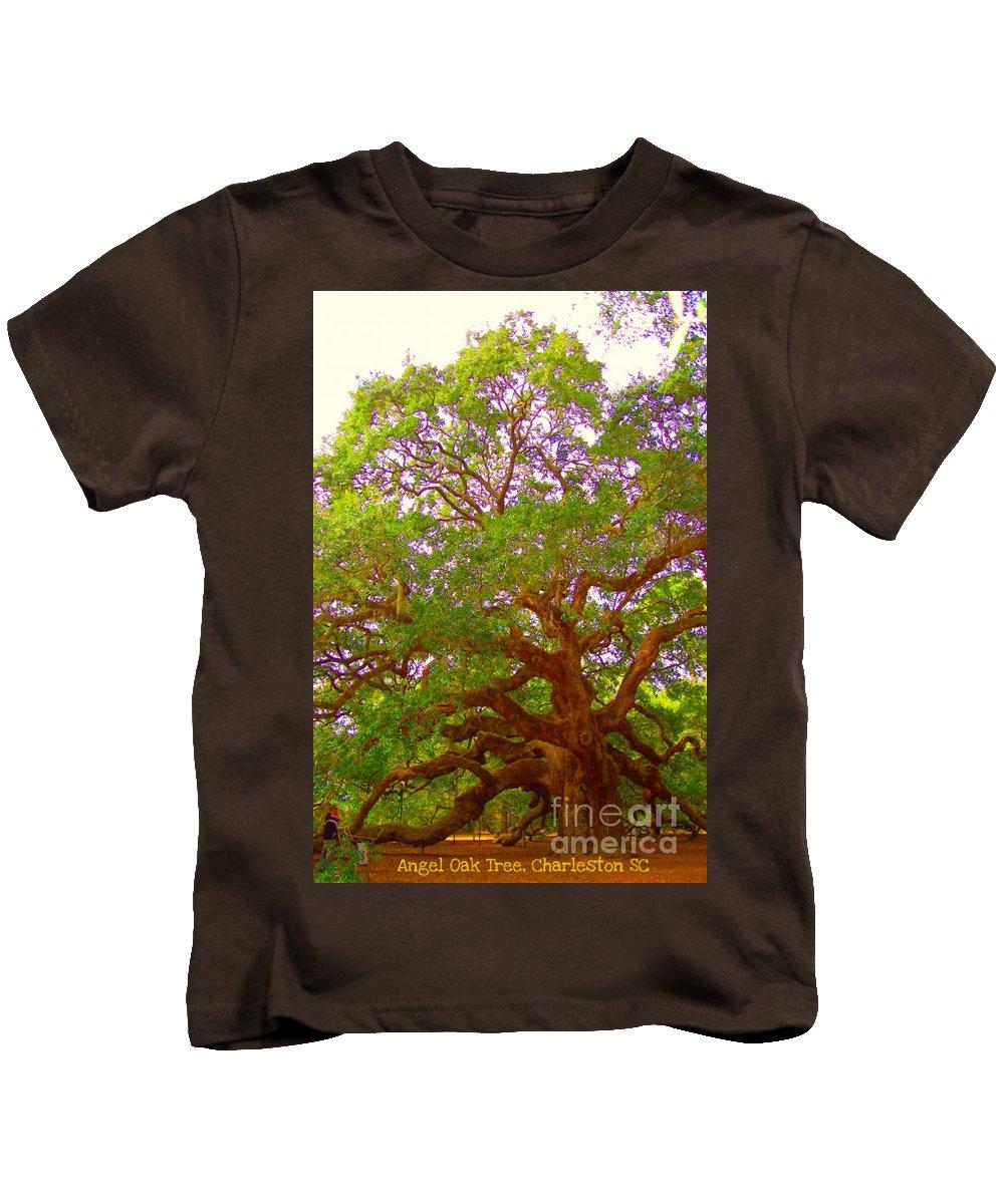 Angel Oak Tree Kids T-Shirt featuring the photograph Angel Oak Tree1 by Donna Bentley
