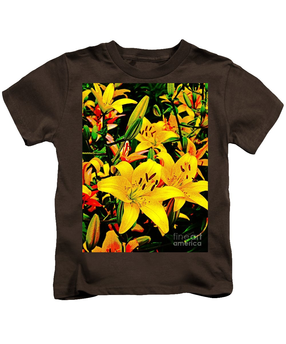 Nature Kids T-Shirt featuring the photograph Asiatics In May by Chris Berry