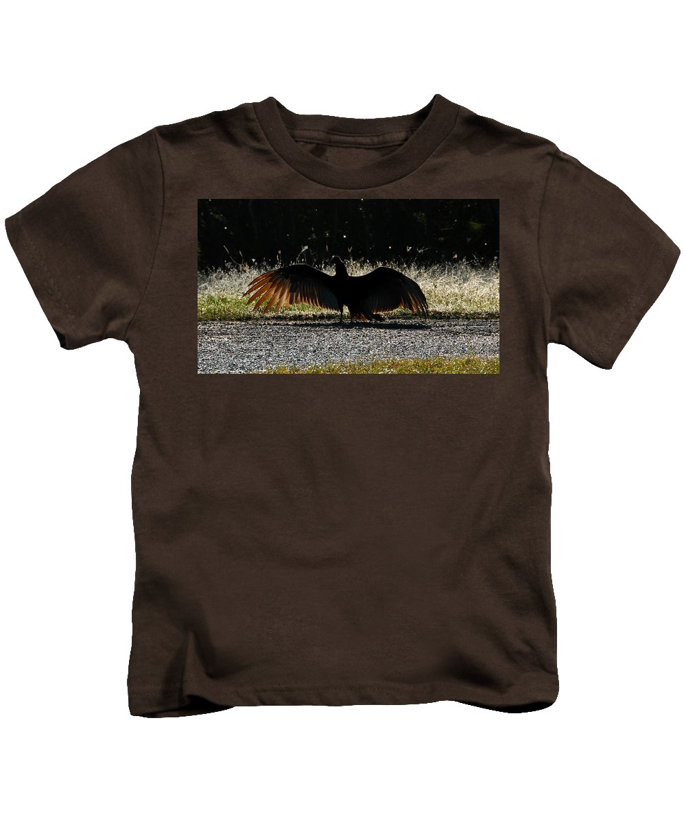 Bird Kids T-Shirt featuring the photograph At The End Of Lifes Road by David Lee Thompson