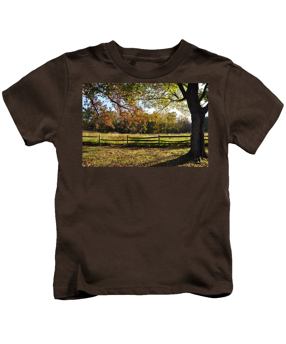 Autumn Kids T-Shirt featuring the photograph Autumn Field In Pennsylvania by Bill Cannon
