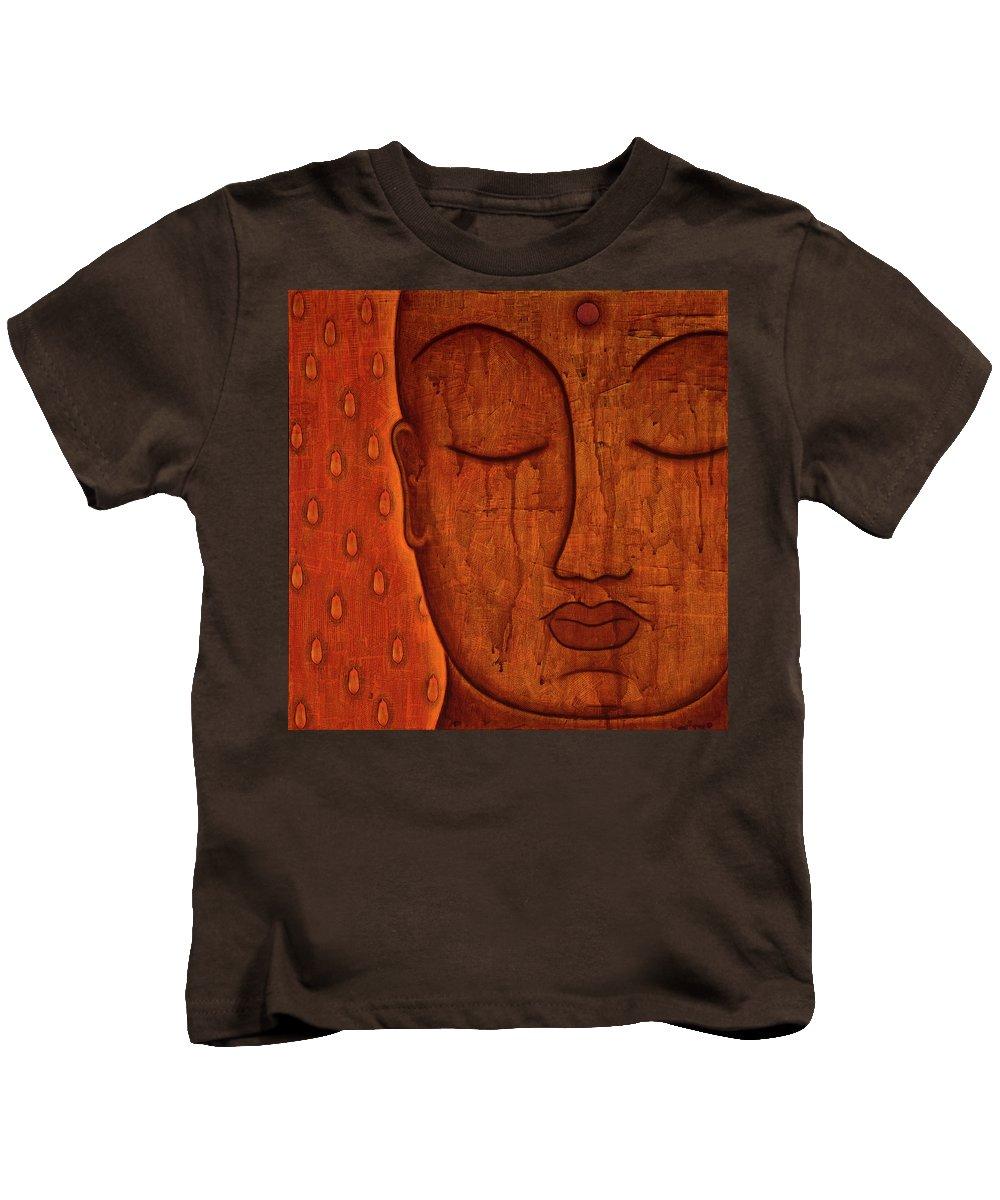 Buddha Kids T-Shirt featuring the mixed media Awakened Mind by Gloria Rothrock