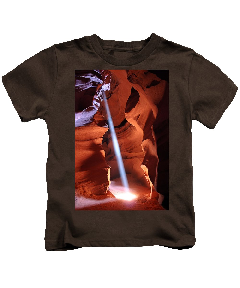 Beam Me Up Kids T-Shirt featuring the photograph Beam Me Up by Wes and Dotty Weber