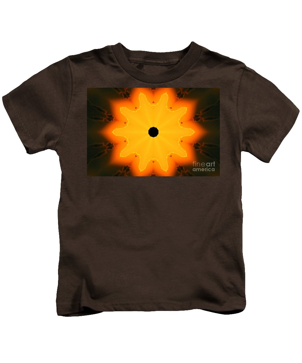Kaleidoscope Image Kids T-Shirt featuring the digital art Center Of The Universe by Tommy Anderson