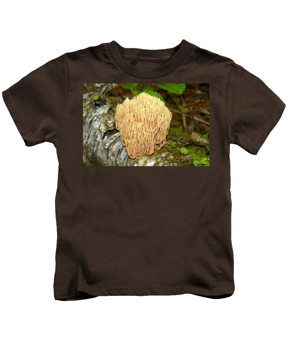 Coral Mushroom Kids T-Shirt featuring the photograph Coral Mushroom by David Lee Thompson