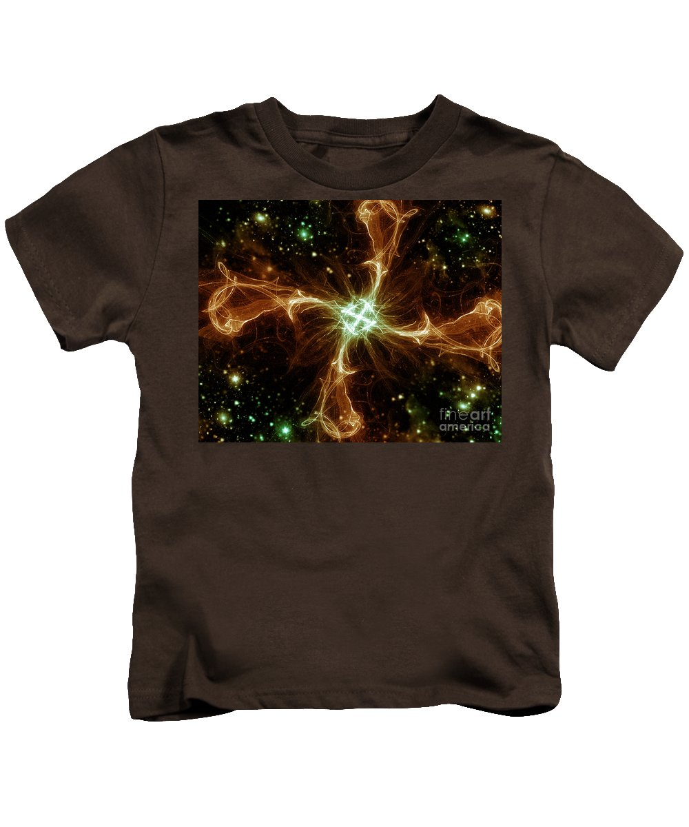 Kids T-Shirt featuring the digital art Cos 25 by Taylor Webb