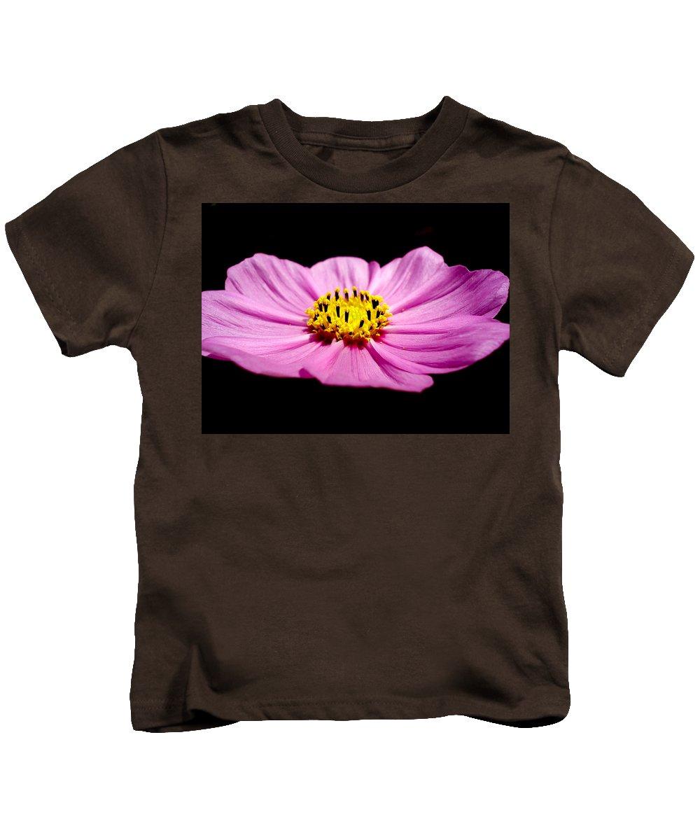 Flower Kids T-Shirt featuring the photograph Cosmia Pink Flower by Sumit Mehndiratta