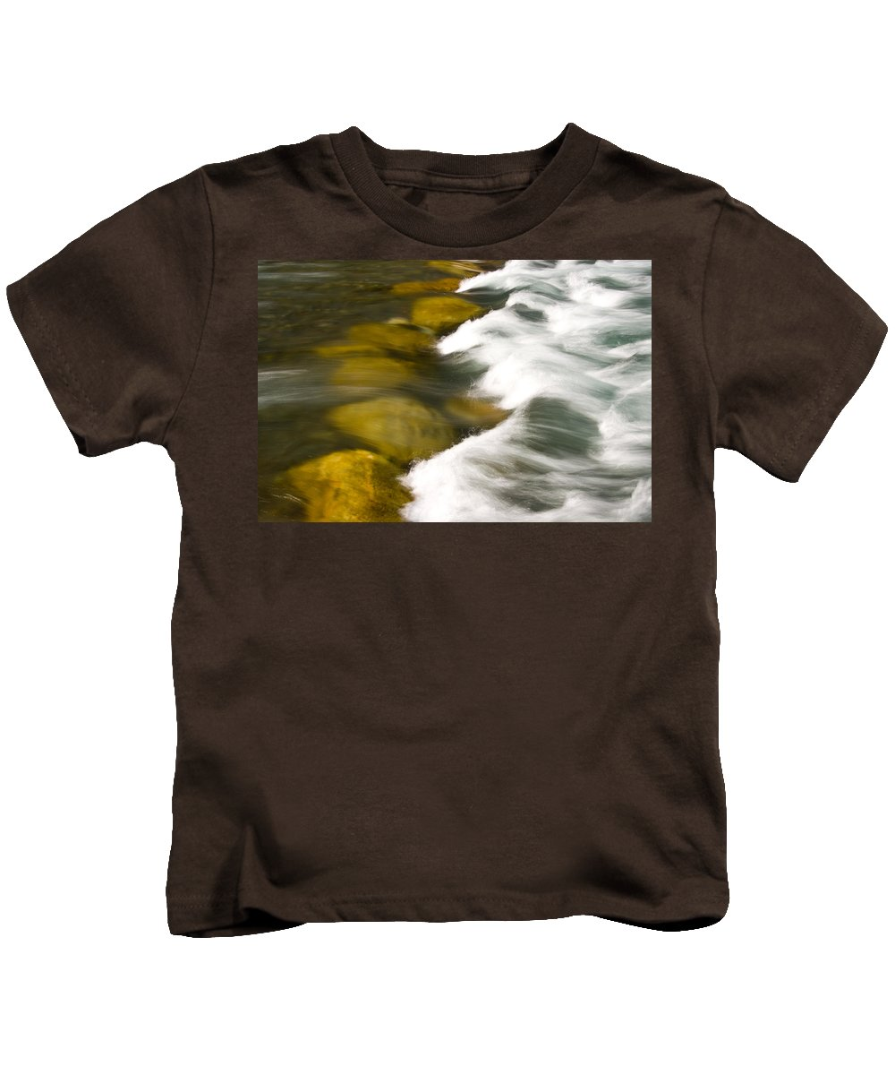 Stream Kids T-Shirt featuring the photograph Crossing The Creek by Rich Franco