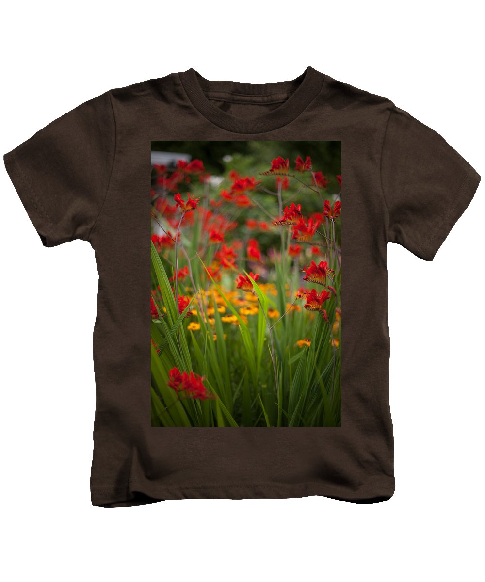 Flower Kids T-Shirt featuring the photograph Dance Of The Flowers by Mike Reid