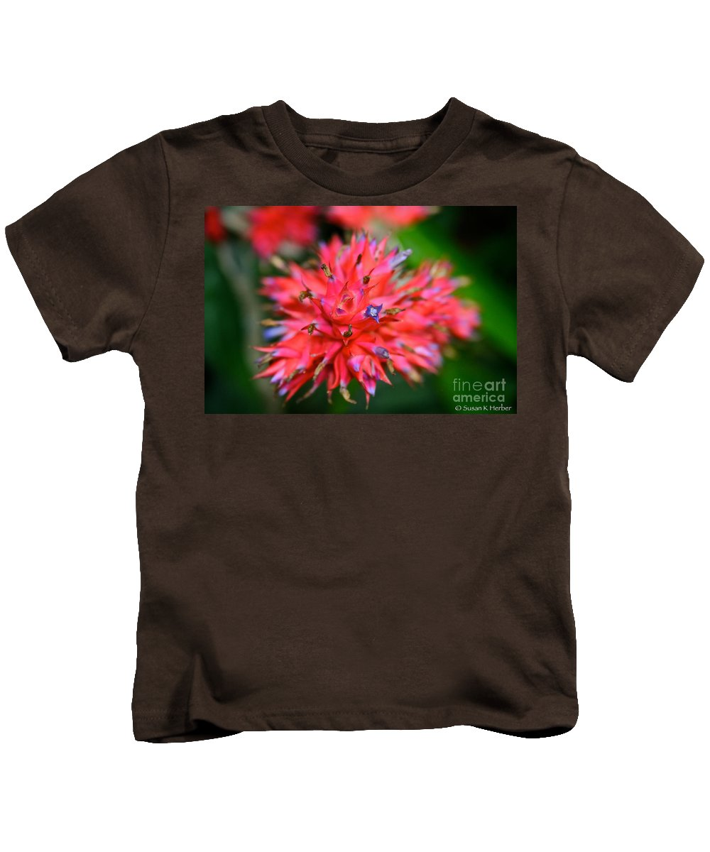 Tropical Plant Kids T-Shirt featuring the photograph Day Glow Glory by Susan Herber
