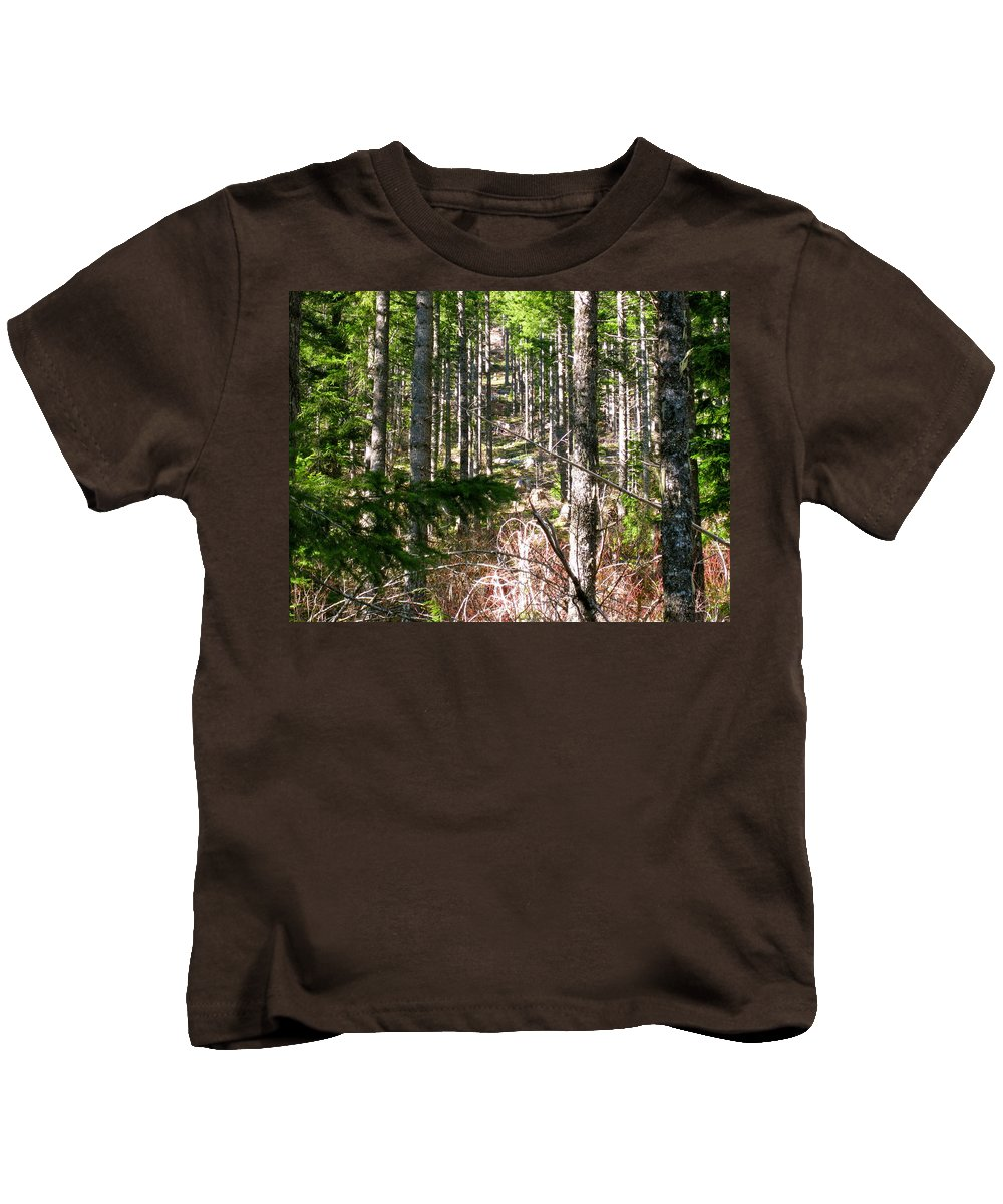 Trees Kids T-Shirt featuring the photograph Depth Of Trees by Linda Hutchins