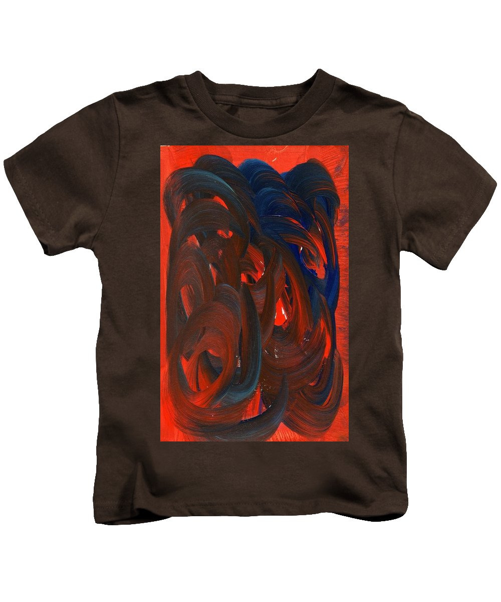 Episodic Rage Kids T-Shirt featuring the painting Episodic Rage by Taylor Webb