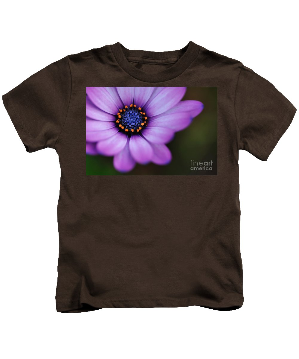 Photography Kids T-Shirt featuring the photograph Eye Of The Daisy by Kaye Menner